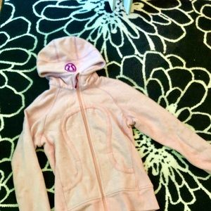 Lululemon light pink scuba zip-up sweatshirt